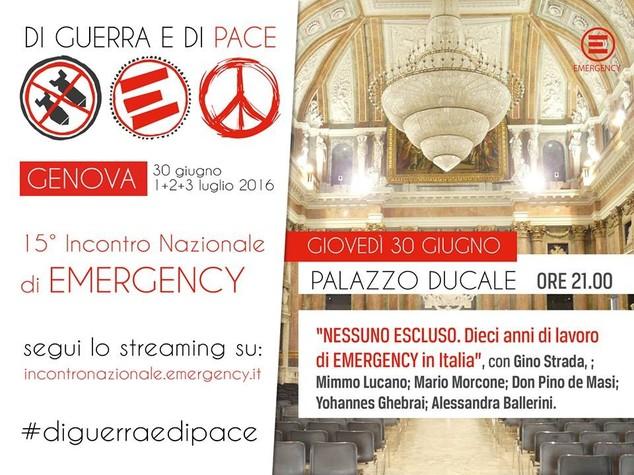 Quattro giorni di incontri per i vent'anni di Emergency