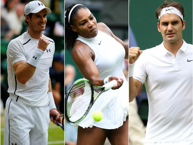Murray, Federer e Williams protagonisti di Wimbledon