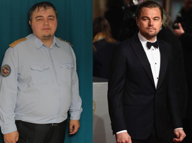 """Sosia """"grasso"""" DiCaprio spopola in Russia con pubblicita' vodka"""