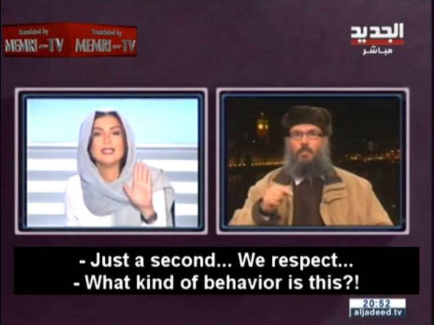 """Qui comando io"", conduttrice libanese zittisce islamista"