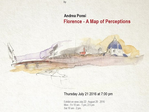 Andrea Ponsi's watercolours on show in Jakarta