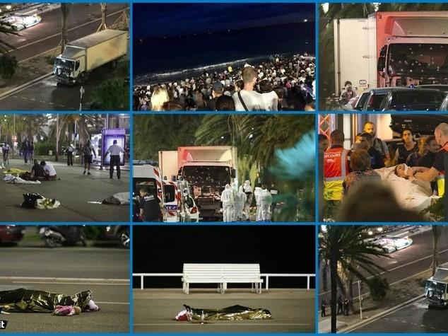 Strage a Nizza, tir sulla folla e spari: 84 morti e 100 feriti