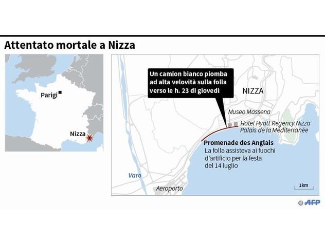 """Nizza, un anno fa la strage: 86 morti, 6 italiani"""""""