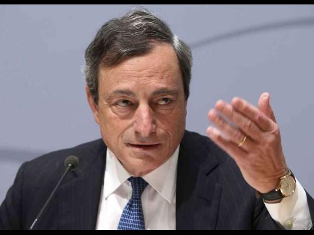 Draghi, la ripresa e' a rischio Possibile acquisto di titoli di stato