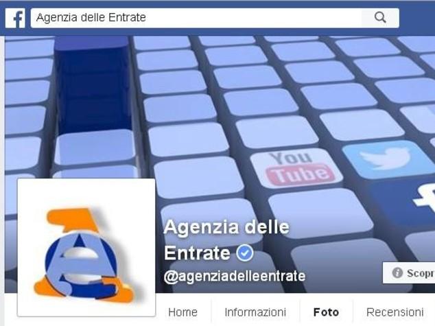 Agenzia Entrate sbarca su Facebook, risposte via chat