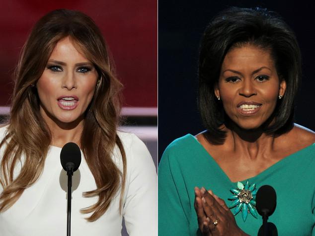 Melania Trump copia Michelle Obama, bufera su web e social