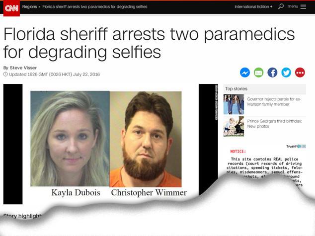"""""""Guerra selfie"""" di pazienti agonizzanti, arrestati 2 paramedici"""