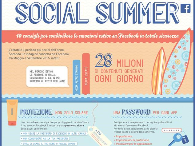 Facebook in vacanza, 10 regole per casa sicura