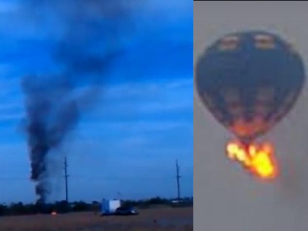 Mongolfiera si schianta in Texas, morti i 16 passeggeri