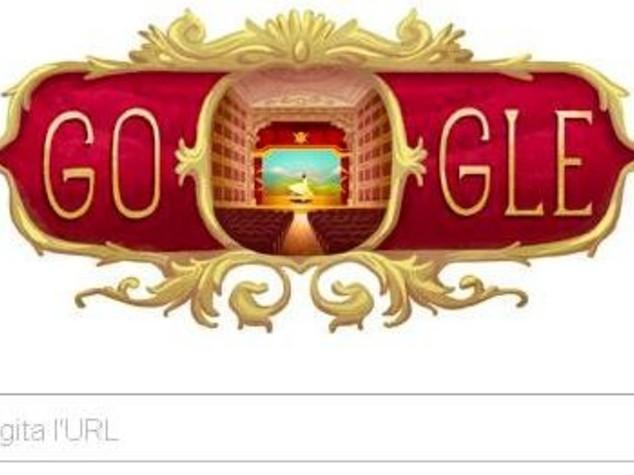 Il Teotro alla Scala celebra 238* anniversario, Google dedica un doodle