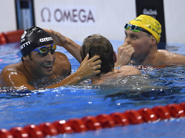 Nella notte la seconda medaglia Gabriele Detti bronzo nei 400 stile libero