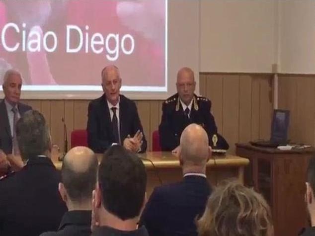 Gabrielli incontra colleghi agente morto a Ventimiglia - Video