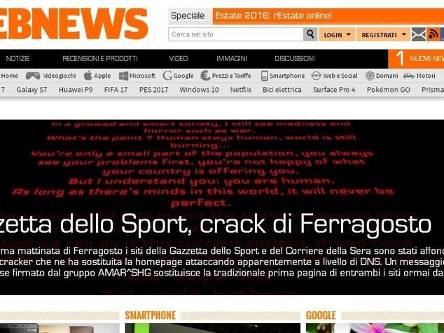 Attacco 'cracker', oscurato sito Gazzetta