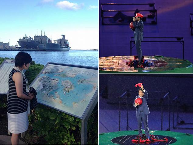 Shinzo Abe fa Super Mario, la moglie visita Pearl Harbor