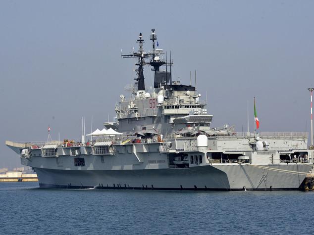 Ventotene: la Garibaldi, una portaerei per i 3 leader