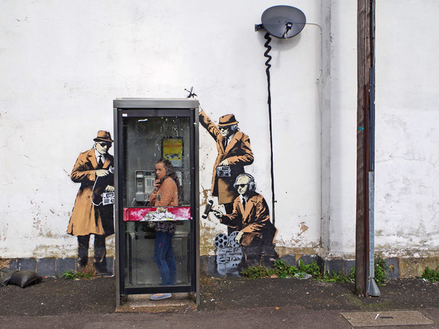 Banksy, rimosso il murales