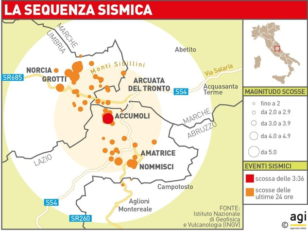 Terremoto: Amato (Ingv), scosse proseguiranno per giorni
