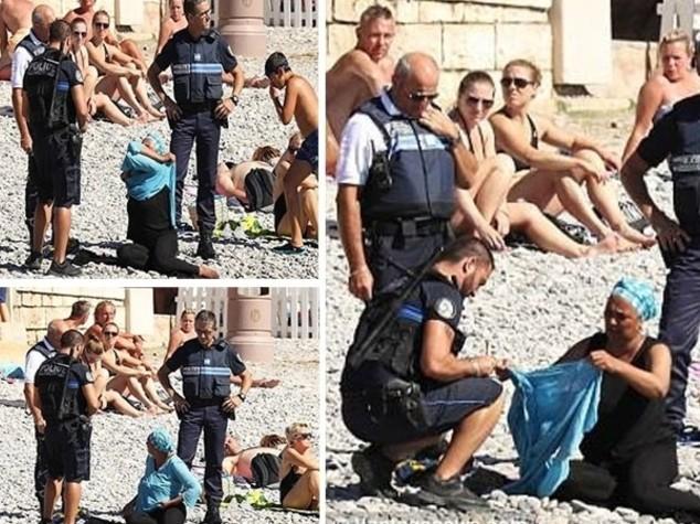 In burkini a Nizza, costretta a toglierlo da polizia