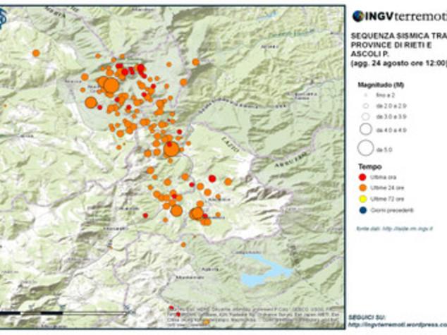 Terremoto: Ingv, scossa 4.7 in provincia di Perugia