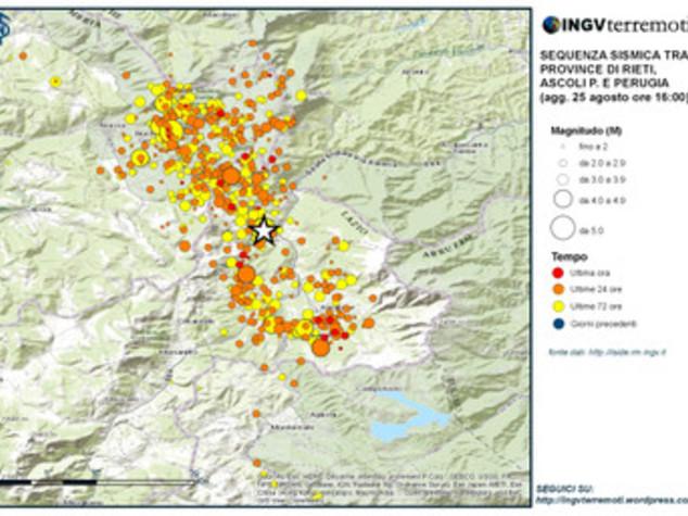 Terremoto: Ingv, 640 le scosse registrate finora