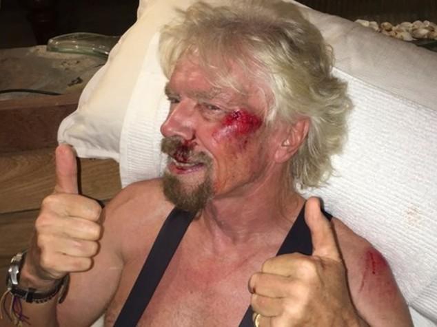 """Incidente in bici per patron Virgin """"ho pensato di morire"""""""