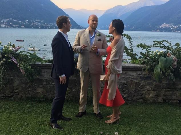 Internet, Ceo Spotify sposo su lago Como e Zuckerberg ospite