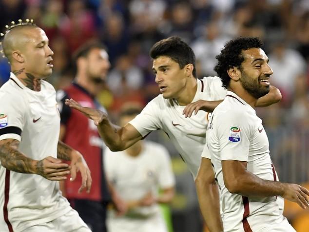 Il Cagliari rimonta e con la Roma e' pari 2-2