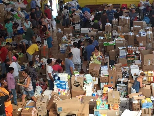 Il cuore logistico per gli aiuti a Rieti, ora si apre la fase più mirata