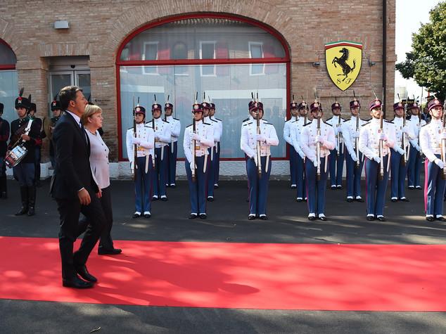 Al via vertice Renzi-Merkel a Maranello