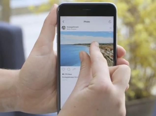 Anche su Instagram zoom per video e foto