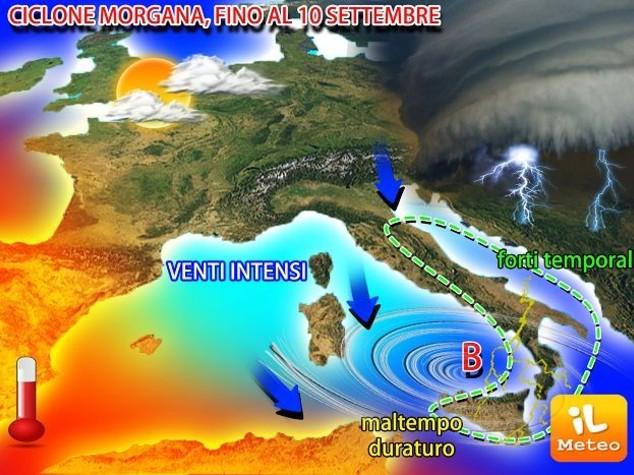 Meteo: temporali in arrivo con il ciclone 'Morgana'