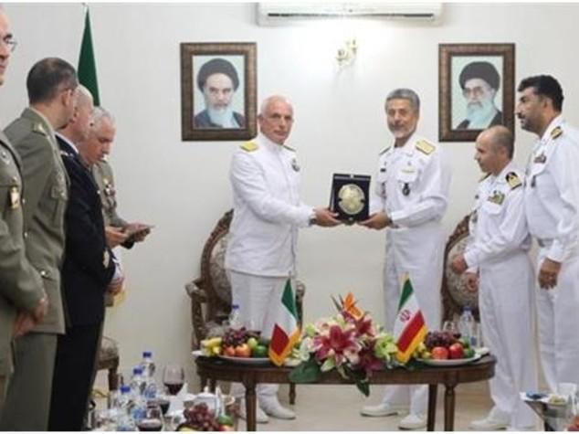 Delegazione Marina Militare in missione a Teheran