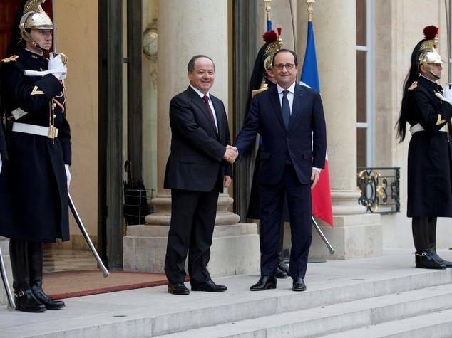 Iraq: Barzani da Hollande a Parigi, focus su Isis e Mosul