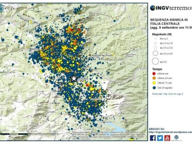 Terremoto: Ingv, finora oltre 7.000 scosse
