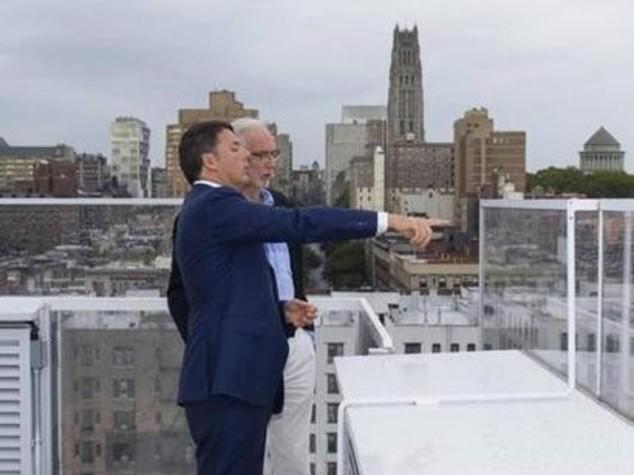 Renzi a New York incontra Bono Vox