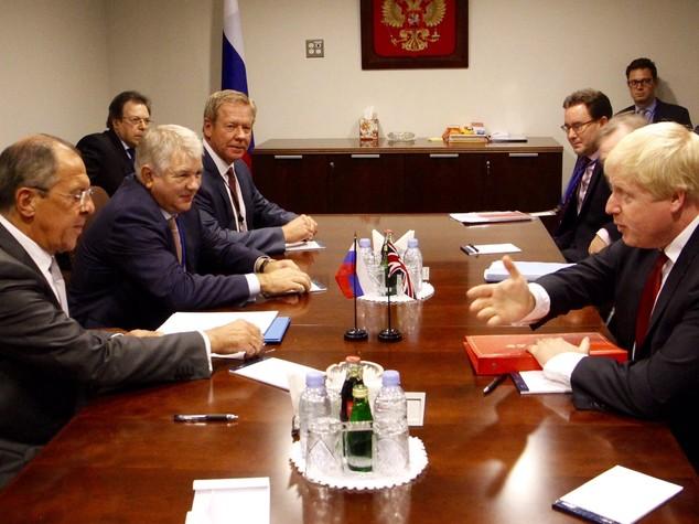 Siria: Mosca, Lavrov ne ha parlato con Johnson a New York