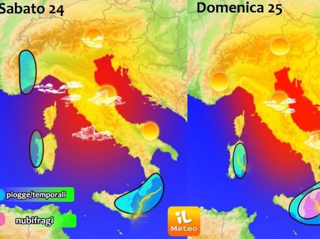 Meteo Italia del 24 settembre: weekend di maltempo su Isole e Calabria