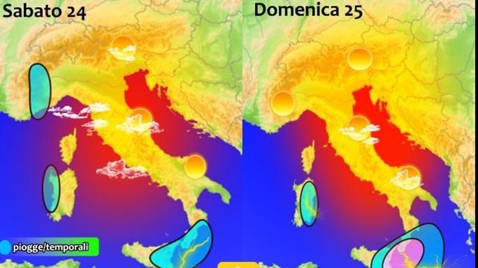 Meteo:weekend con sole, allerta nubifragi su Sicilia e Calabria