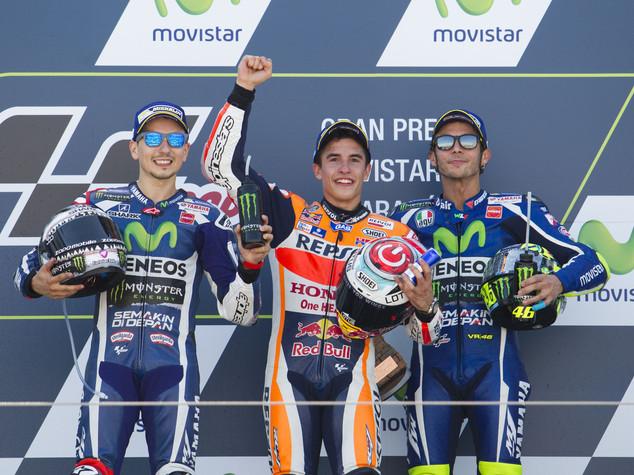 Motogp: Marquez vince e allunga, Rossi e' terzo