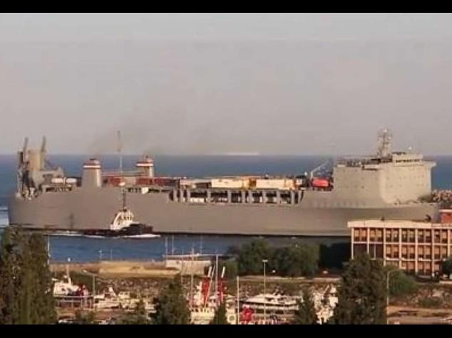Blindato porto Gioia Tauro -Video  In corso trasbordo armi chimiche