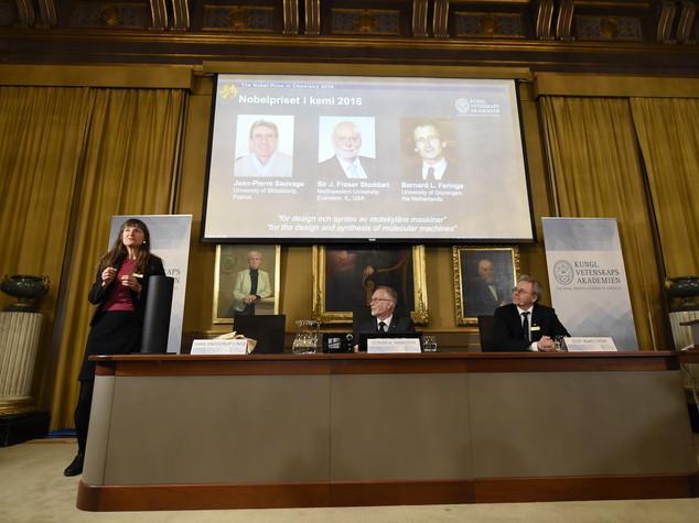 Nobel per la Chimica a Sauvage, Stoddart e Feringa