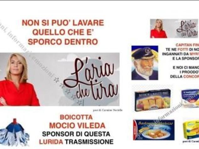 """""""Boicottate i bastoncini Findus"""". Fan M5S contro sponsor 'L'aria che tira'"""