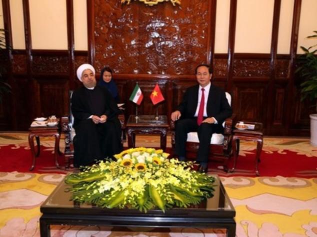 Iran-Vietnam: Rohani e Dai Quang, portare interscambio a 2 mld dlr