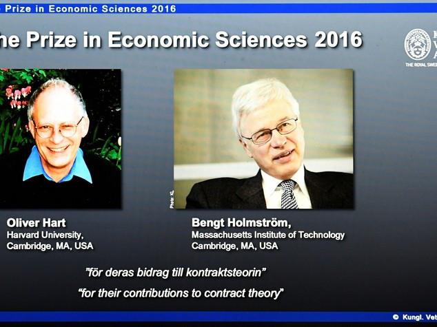Nobel Economia premia studi su contratti e super bonus