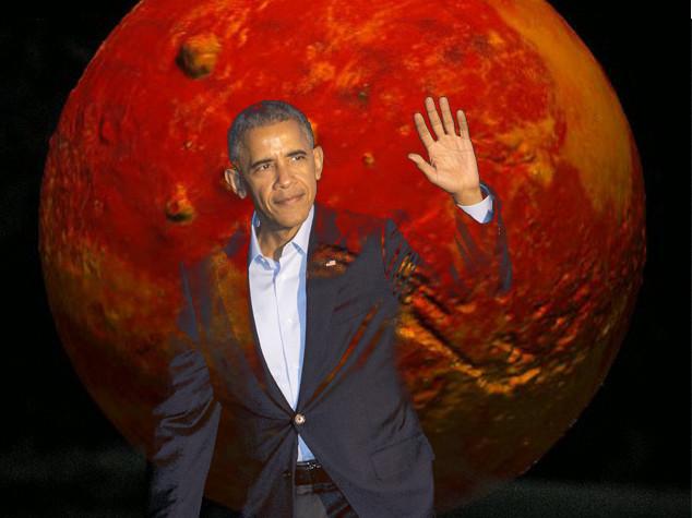 """Obama annuncia, """"entro il 2030 l'uomo su Marte"""""""