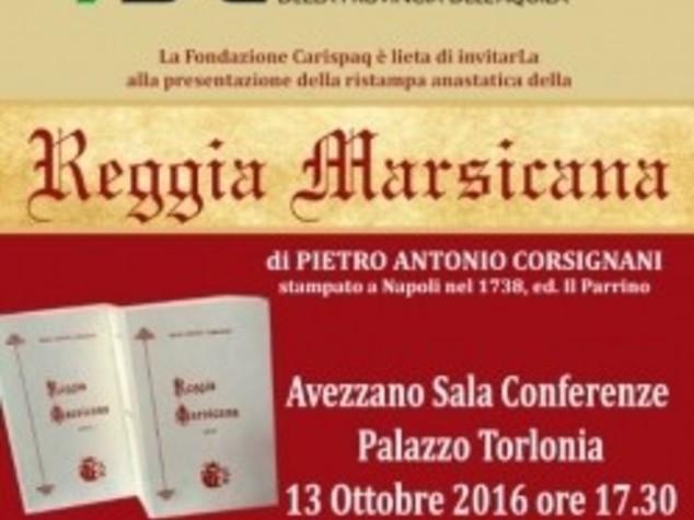 """Presentata ad Avezzano ristampa anastatica """"Reggia Marsicana"""""""