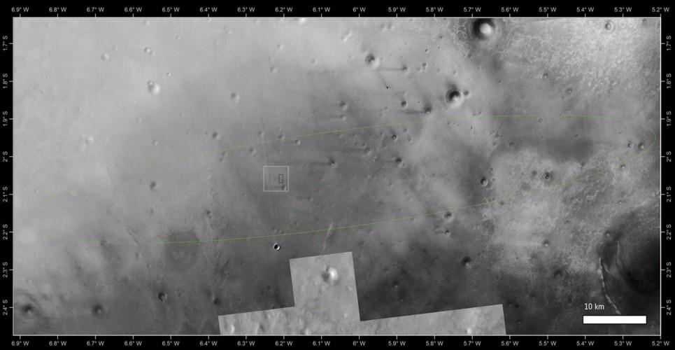 Fotografato il punto di impatto di Schiaparelli su Marte -Guarda