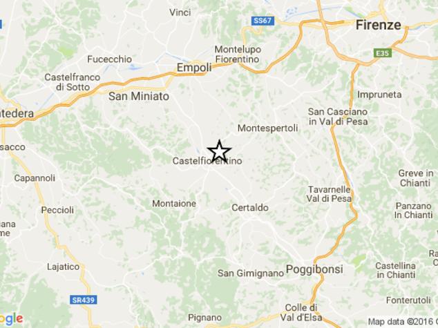 Terremoto, scossa di magnitudo 3.9 a Firenze