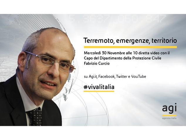 Fabrizio Curcio in diretta web all'Agi
