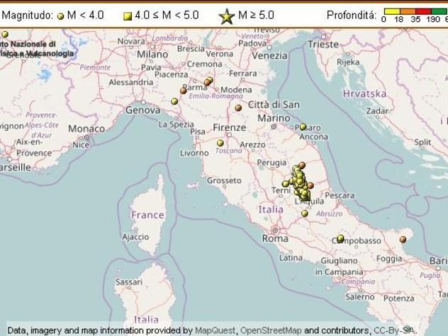 Terremoto, l'Emilia torna a tremare. Undici scosse anche nel Centro Italia